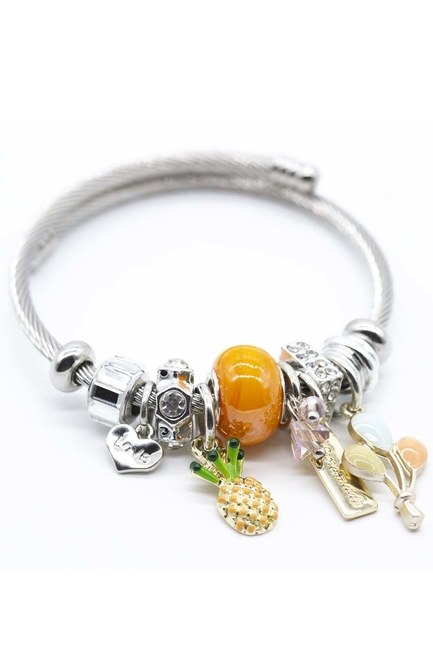 MIZALLE - Pineapple Bracelet (Orange) (1)