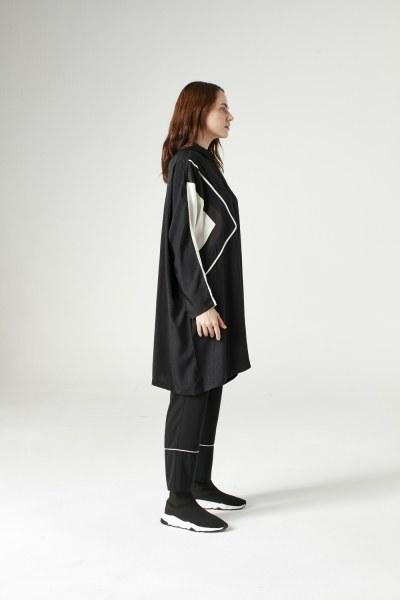 MIZALLE - Pipping Tunic (Black) (1)