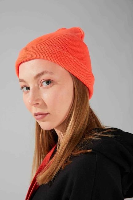 Mizalle - قبعة شتوية صغيرة (برتقالي)