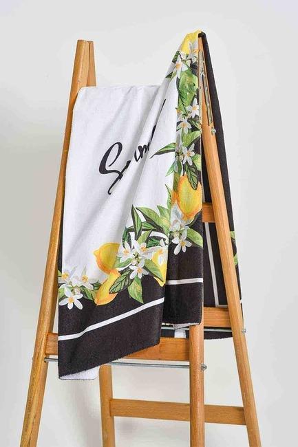 Mizalle Home - منشفة الشاطئ (زهرة الليمون)
