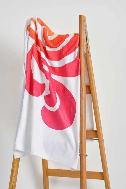 Mizalle Home - منشفة الشاطئ (منقوشة)