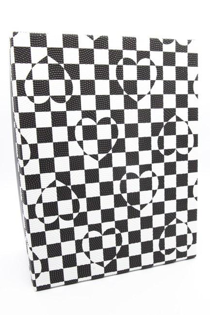 Mizalle Home - صندوق مربع أبيض وأسود (20 × 28)