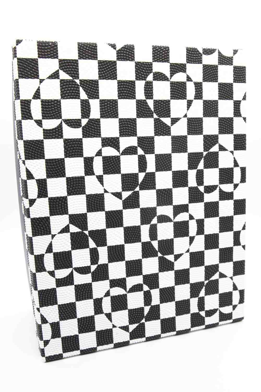 Mizalle Home - صندوق مربع أبيض وأسود (22X30)