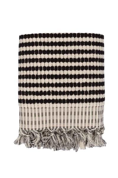 Mizalle Home - منشفة قطنية سوداء (90X170)