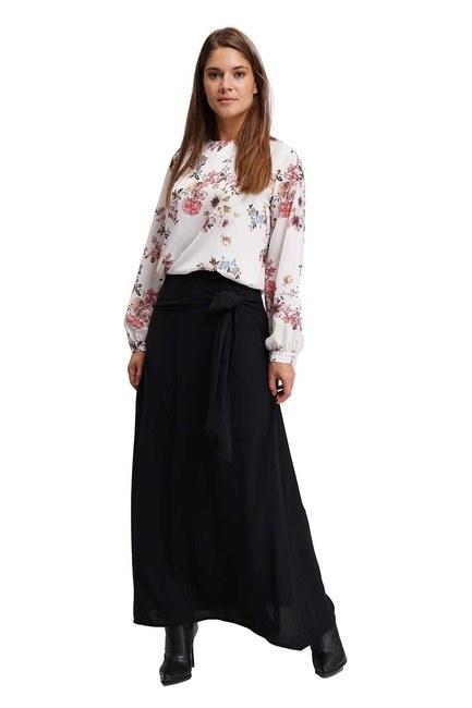 Mizalle - تنورة طويلة كلاسيكية (أسود) (1)
