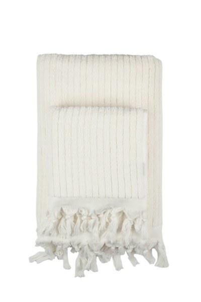 Mizalle Home - منشفة حمام قطنية عاجي (90X170)