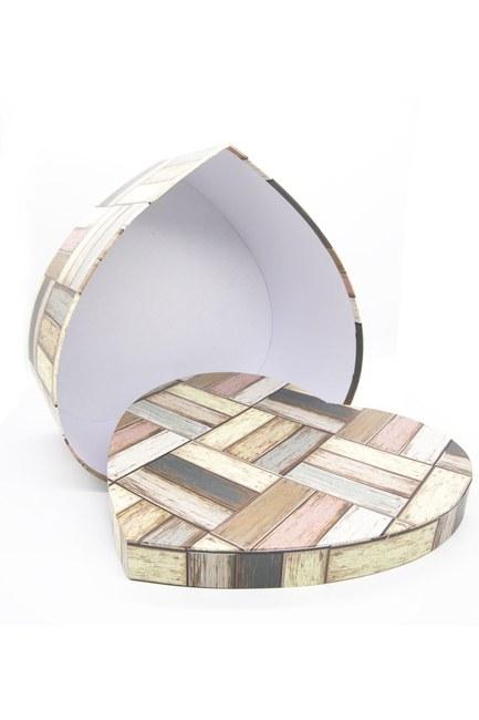 Mizalle Home - صندوق علي شكل قلب كريمي (28 × 26)
