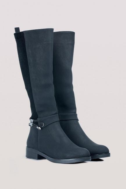 Mizalle - حذاء بوت مصمم (أسود)