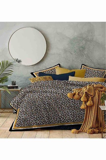 Mizalle Home - طقم فرش سرير كامل مزدوج (نقشة الفهد)
