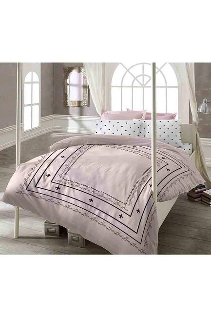 Mizalle Home - طقم فرش سرير كامل مزدوج (Love)
