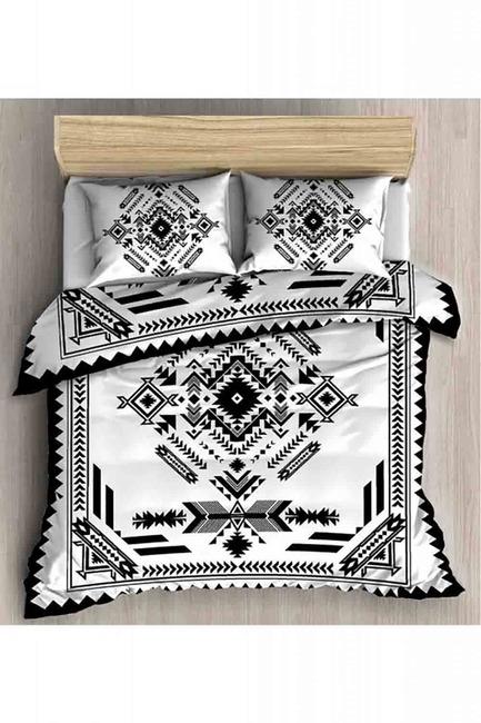 Mizalle Home - طقم فرش سرير كامل مزدوج (أسود)