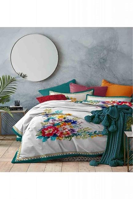 Mizalle Home - طقم فرش سرير كامل مزدوج (زهرة)