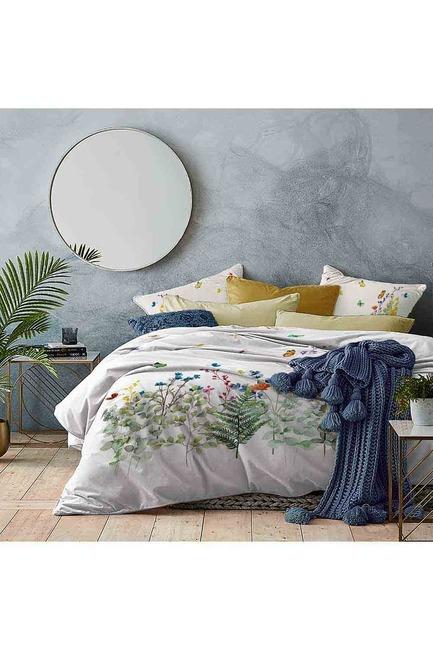Mizalle Home - طقم فرش سرير كامل مزدوج (أوراق شجر)