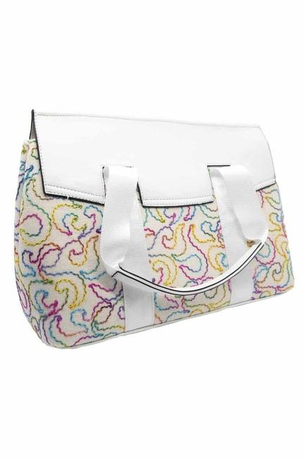 Mizalle - حقيبة يد مزينة بنقشات (ملون)