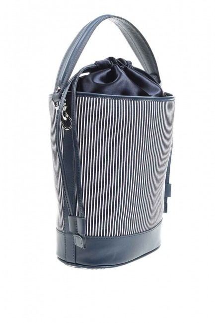 Mizalle - حقيبة كتف مزخرفة (أزرق داكن) (1)