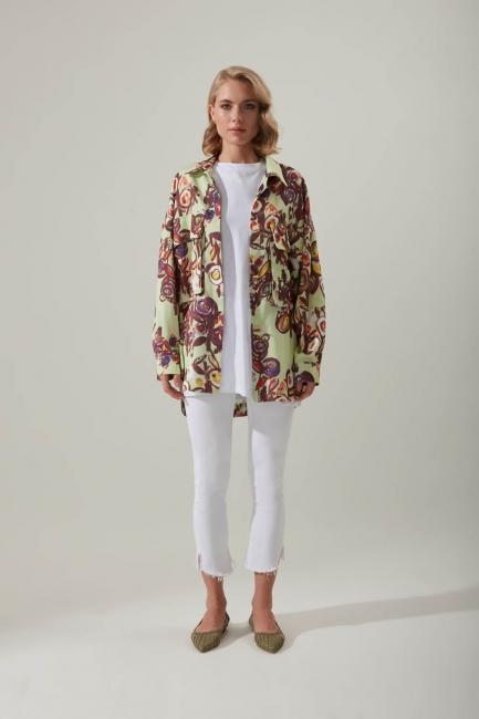 Mizalle - قميص منقوش زهور (ملون)