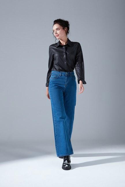 Mizalle - بنطلون جينز بخصر مرتفع (نيلي)