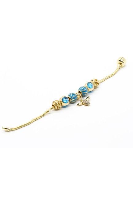MIZALLE - Bee Bracelet (blue) (1)