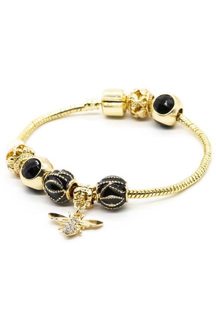 MIZALLE - Bee Bracelet (Black) (1)