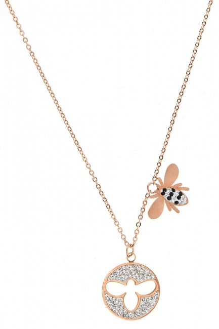 Bee Detailed Steel Necklace (St) - Thumbnail