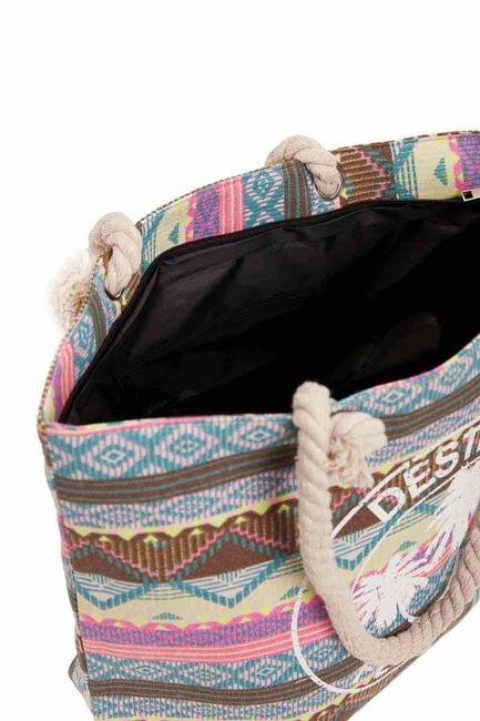 Mizalle - حقيبة الشاطئ الكبيرة (ملونة)