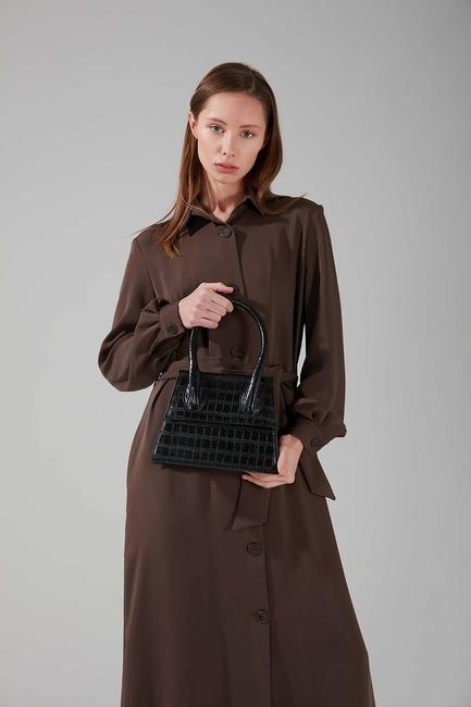 Mizalle - حقيبة كتف بمقبض واحد (أسود)