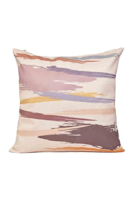 Mizalle Home - غطاء وسادة منقوشة 45 × 45 (عاجي)