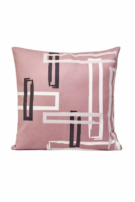 Mizalle Home - غطاء وسادة منقوشة 45x45 (بني مينك)