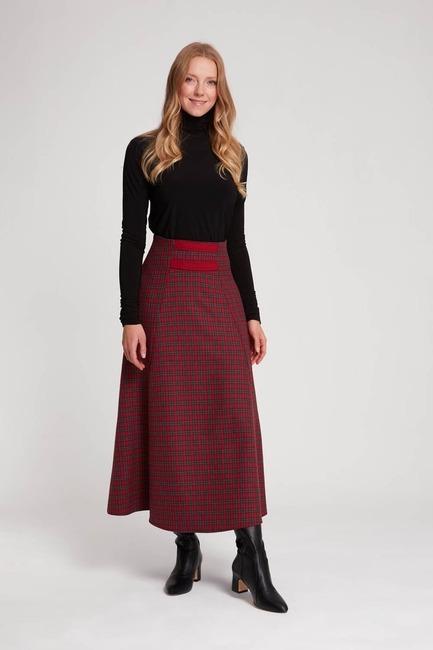 Mizalle - تنورة منقوشة (أحمر)