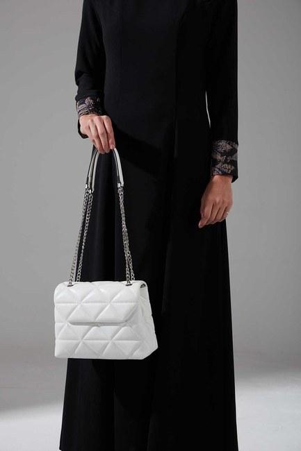 Mizalle - حقيبة يد و كتف مبطنة (أبيض)