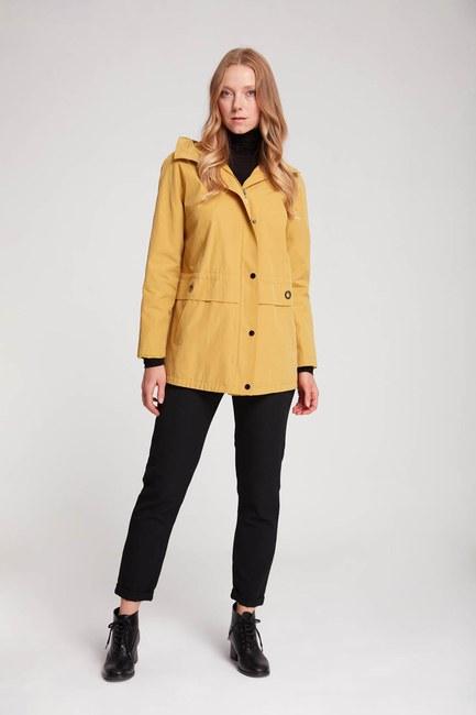 Mizalle - معطف قصير بغطاء الرأس (أصفر)