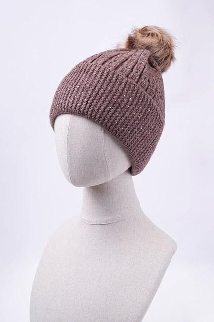 Mizalle - قبعة شتوية مزينة بأحجار (بني مينك)