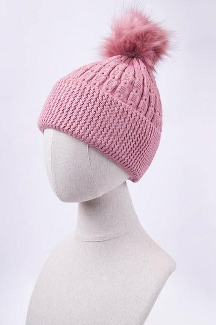 Mizalle - قبعة شتوية مزينة بأحجار (وردي)