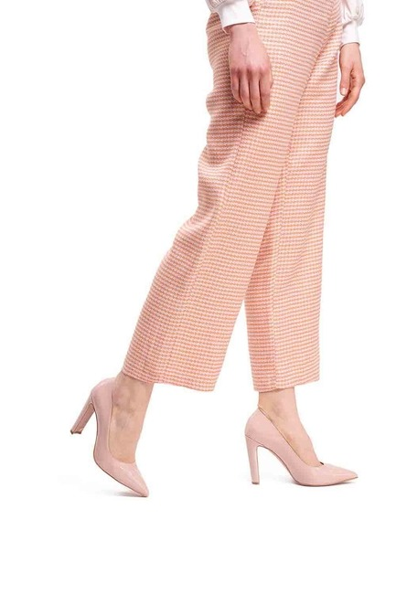 Mizalle - حذاء بكعب عالي سميك ( وردي فاتح )
