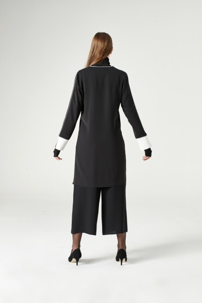 Asymmetric Blouse (Black) - Thumbnail