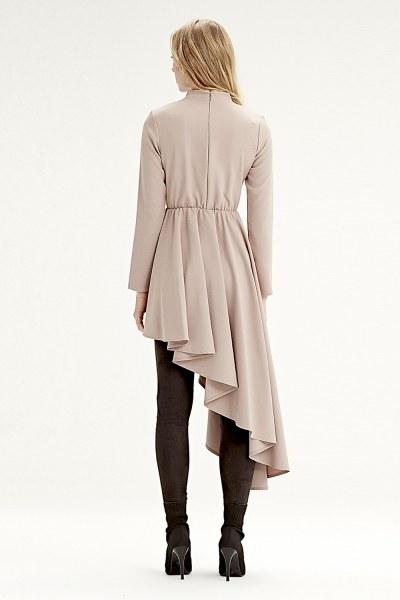 فستان تونيك بخطوط غير متماثلة(حجري) - Thumbnail
