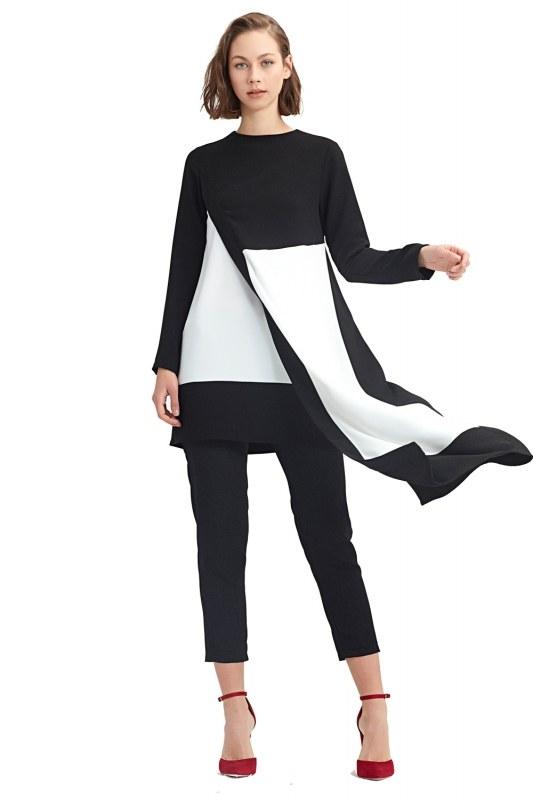 Garni-Asymmetric Tunic (Black)