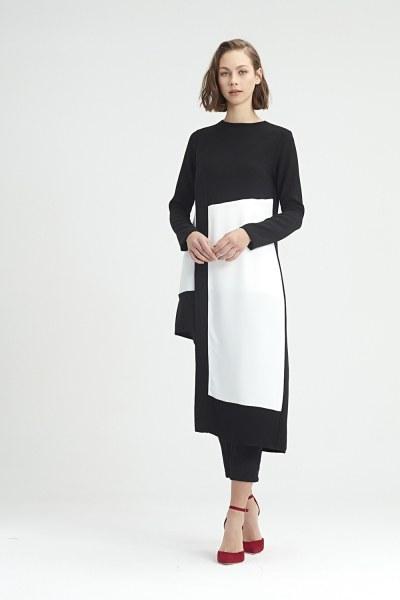 Garni-Asymmetric Tunic (Black) - Thumbnail