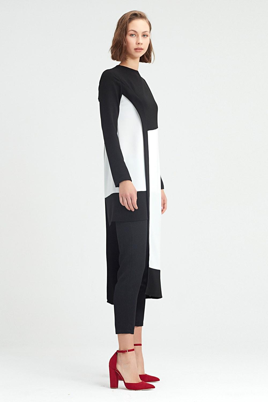 MIZALLE Garni-Asymmetric Tunic (Black) (1)