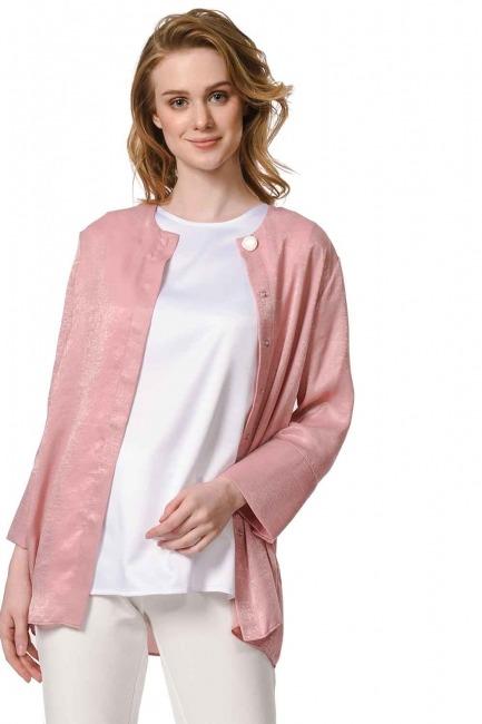 Askılı Saten Kolsuz Bluz (Beyaz) - Thumbnail
