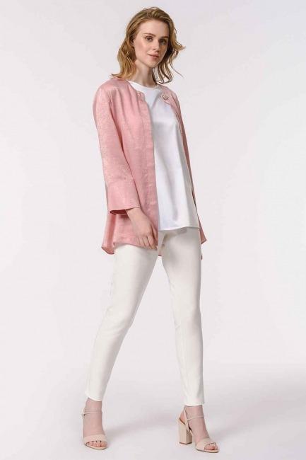 MIZALLE - Askılı Saten Kolsuz Bluz (Beyaz) (1)