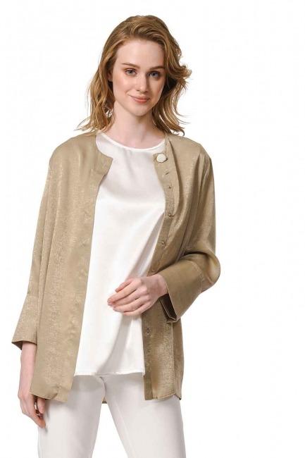 MIZALLE Askılı Saten Kolsuz Bluz (Ekru)