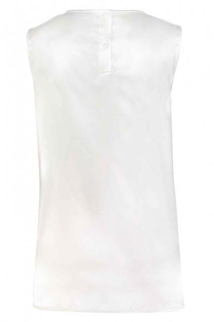 Askılı Saten Kolsuz Bluz (Ekru) - Thumbnail
