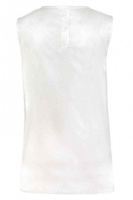 Straped Satin Sleeveless Blouse (Ecru) - Thumbnail