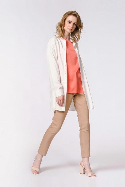 Askılı Saten Kolsuz Bluz (Nar Çiçeği) - Thumbnail