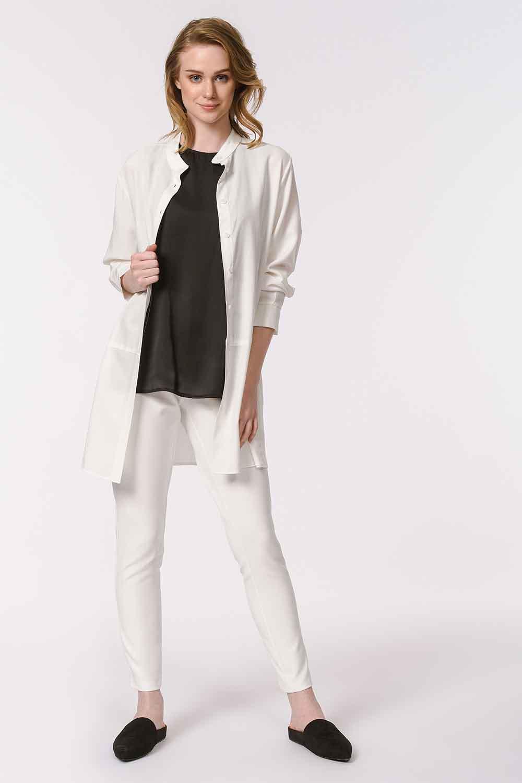MIZALLE Askılı Saten Kolsuz Bluz (Siyah) (1)