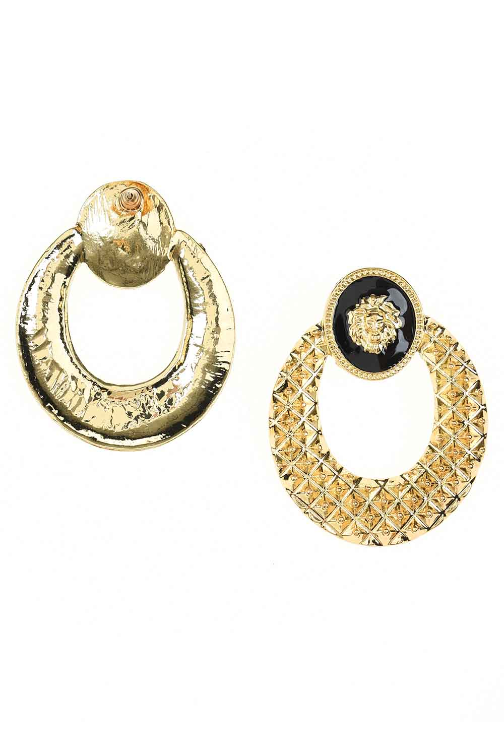 MIZALLE Lion Figured Earrings (St) (1)