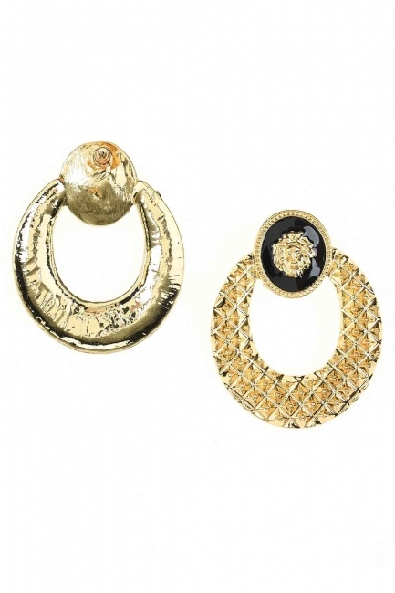MIZALLE - Lion Figured Earrings (St) (1)