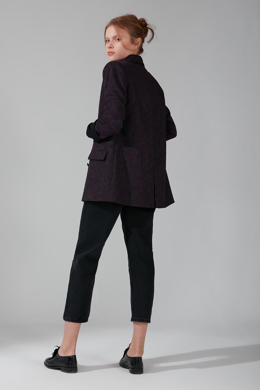 Astarlı Kruvaze Ceket (Siyah) - Thumbnail
