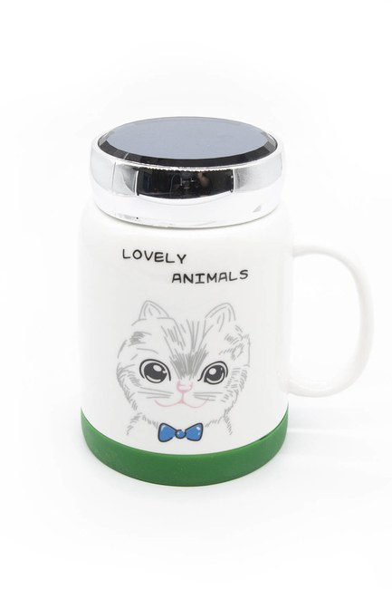 MIZALLE HOME Aynalı Porselen Kupa (Kedi)